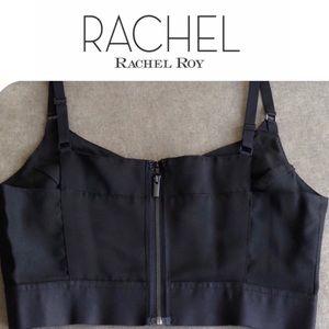 🆕 Zip Back Crop Top Camisole Black Rachel Roy